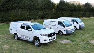 Our fleet of carpet cleaning, carpet dyeing and flood restoration vehicles.